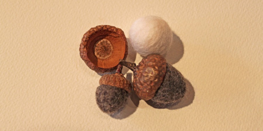 Hand Felted Acorns
