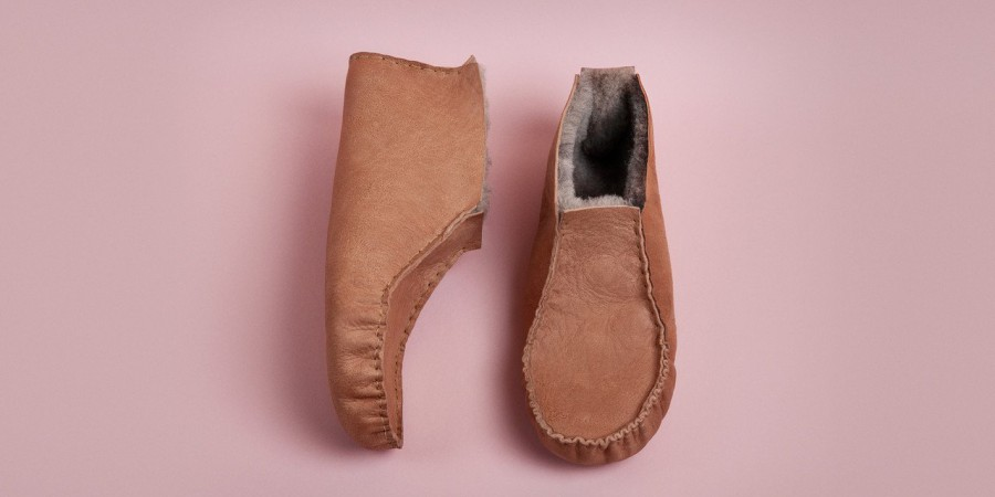 Home Slippers in Organic Shearling or Felt