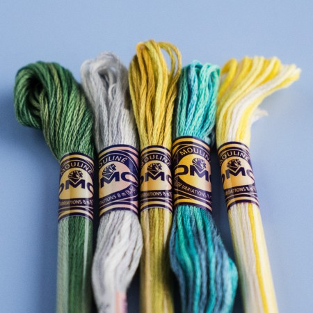 DMC Color Variations 6 Stranded Cotton Embroidery Floss - Evergreen Forest 4045
