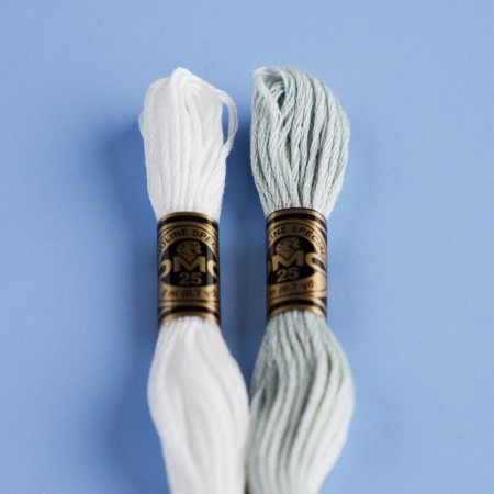 DMC 6 Strand Cotton Embroidery Floss - Blanc