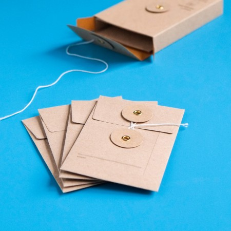 Midori Small Kraft Paper Envelops - Brown with String Closure