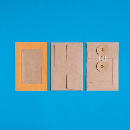Midori Small Kraft Paper Envelops - Orange Vertical Window