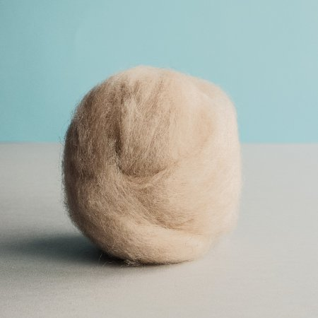Carded (Roving) Wool - Tan
