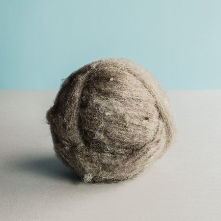 Carded (Roving) Wool - Gray