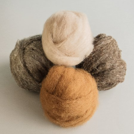 Carded (Roving) Wool - Brown