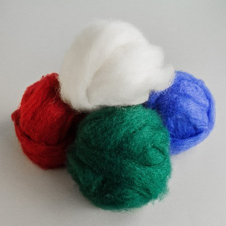 Carded (Roving) Wool - Cobalt