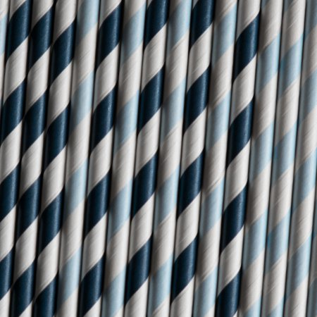 Paper Straws - Navy Stripe