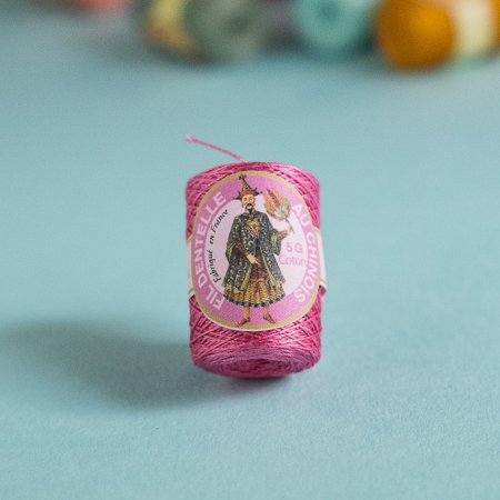 Fil au Chinois Cotton Thread Cocoons - Old Rose 6573