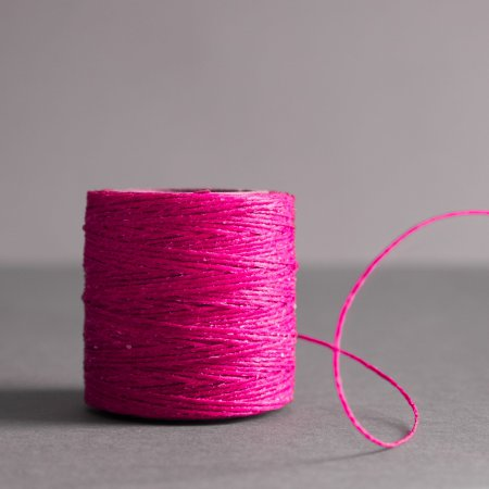 "Maine Thread Waxed Cord - 0.40"" - Hot Pink"