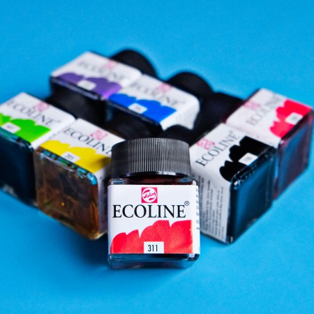 Ecoline Watercolor Ink - Blue Violet 506