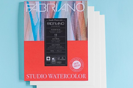 Fabriano Hot Press Watercolor Paper - 4 sheets
