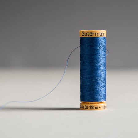 Gutermann 100% Natural Cotton Thread - Colors - Royal Blue 6800