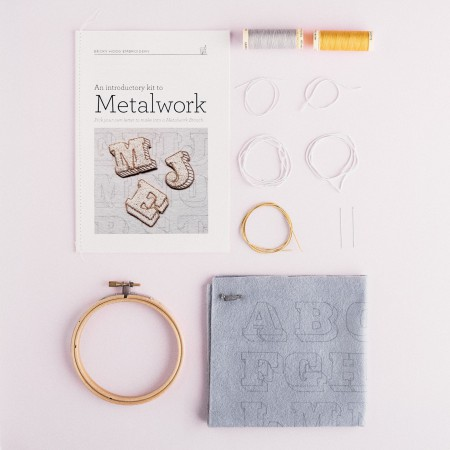 Becky Hogg Embroidery Metalwork Letter Kit