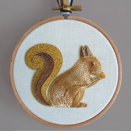 Becky Hogg Embroidery Metalwork Squirrel Kit
