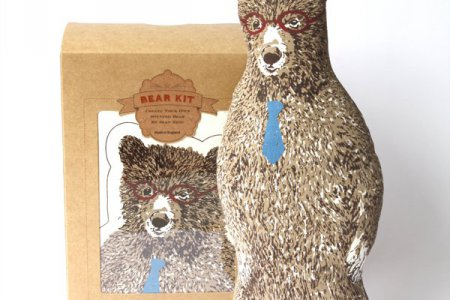 Office Bear Kit with Glasses and Tie