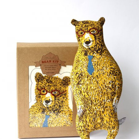 Office Bear Kit with Glasses and Tie - Yellow