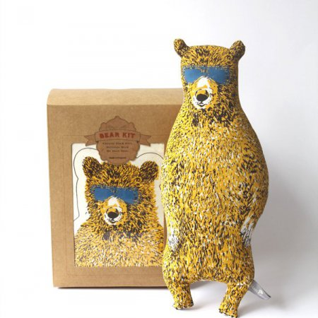 Holiday Bear Kit with Sunglasses - Yellow