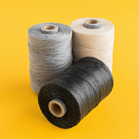 Irish Waxed Linen Thread - 2 ply - Slate Grey