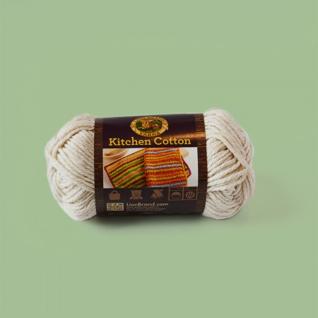 Lion Brand Kitchen Cotton Yarn - Vanilla 831-098