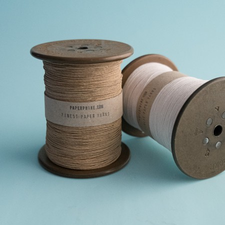 PaperPhine Medium Paper Twine on Reclaimed Silk Bobbin - Pure White
