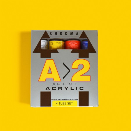 A2 Chroma Acrylic Paints (set of four)