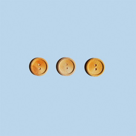 Round Wooden Buttons - Set of 3