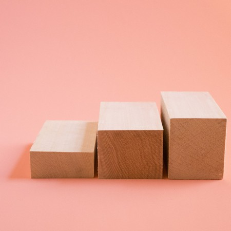 Mini Wooden Blocks in Basswood - Set of 3