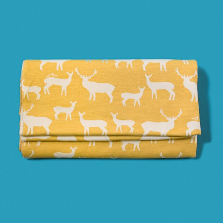 Birch Organic Fabrics - Jay-Cyn Designs Elk Family in Sun - 1/8 Yard