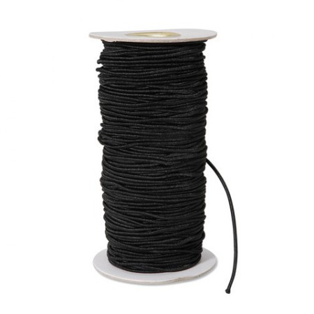 Black Elastic Cord - Thin