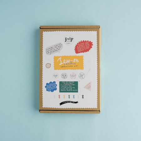 Becky Hogg Sew-On Patches Embroidery Kit