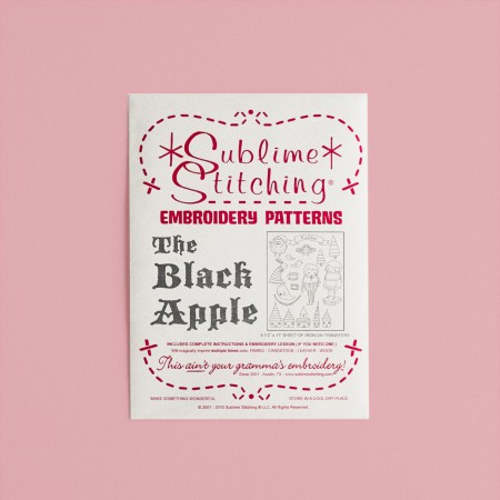 Sublime Stitching Embroidery Pattern - The Black Apple