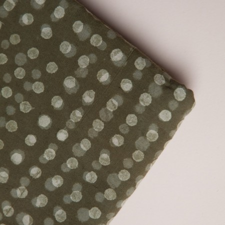 Merchant & Mills Hand Printed Fabric - Olive Spot Hand Block