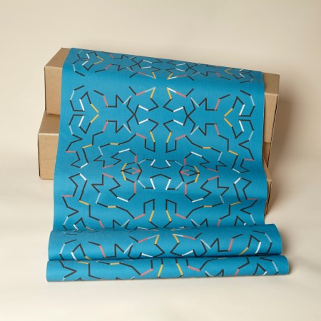 Harvest - Pillow Cover Fabric with Marine Duroselle - Azure Blue