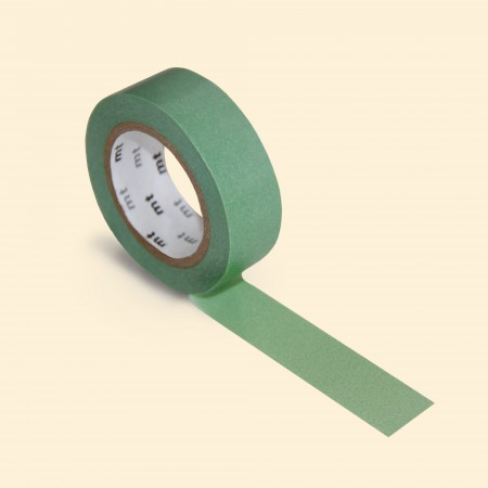 mt Washi Tape - Single Roll - Peacock Green