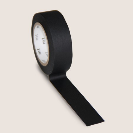 mt Washi Tape - Single Roll - Matte Black